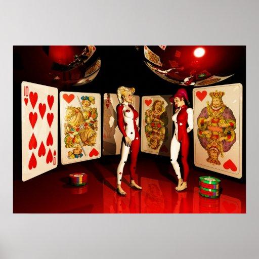 Arte del póker poster