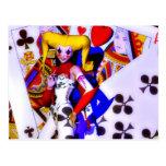 Arte del póker tarjeta postal