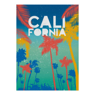 Arte del poster de California del tema del verano