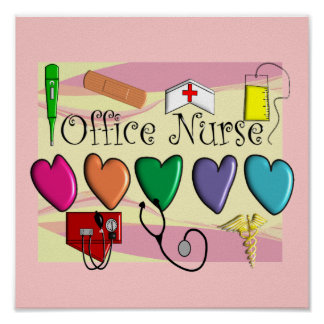 Arte del poster de la enfermera de la oficina