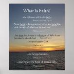 Arte del poster de la fe