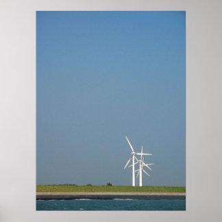Arte del poster de la foto de las turbinas de vien