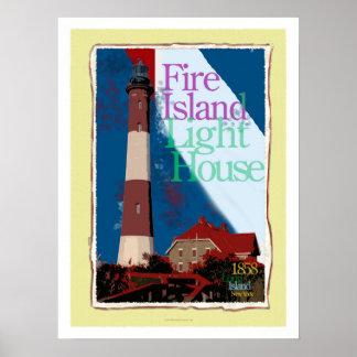 Arte del poster de la isla del fuego
