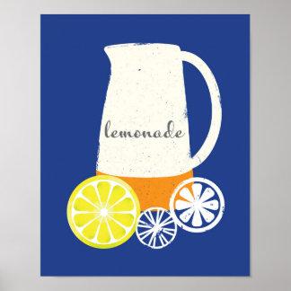Arte del poster de la jarra de la limonada