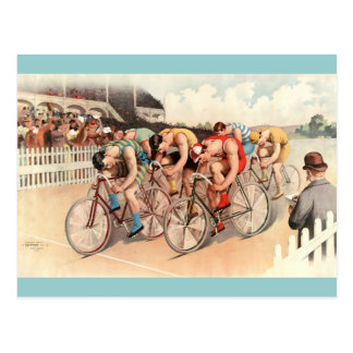 Arte del poster de la raza de bicicleta del postal