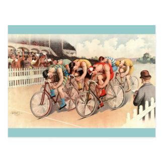 Arte del poster de la raza de bicicleta del vintag tarjetas postales