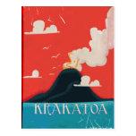 Arte del poster de las vacaciones del vintage de postal
