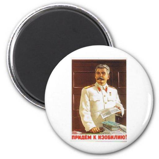arte del poster de stalin imán para frigorífico