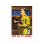 arte del poster de stalin postal