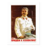 arte del poster de stalin tarjeta postal