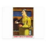 arte del poster de stalin tarjetas postales