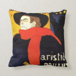 Arte del poster de Toulouse Lautrec Almohada