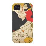 Arte del poster de Toulouse Lautrec iPhone 4 Carcasas
