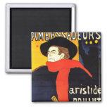 Arte del poster de Toulouse Lautrec Imanes De Nevera