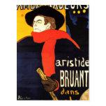 Arte del poster de Toulouse Lautrec Postal