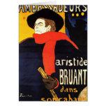 Arte del poster de Toulouse Lautrec Tarjetón
