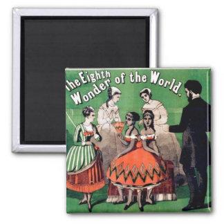 Arte del poster del circo de la maravilla de Lecir Imán Cuadrado