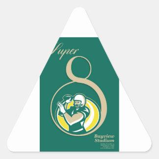 Arte del poster del fútbol americano QB Calcomanía Triangulo
