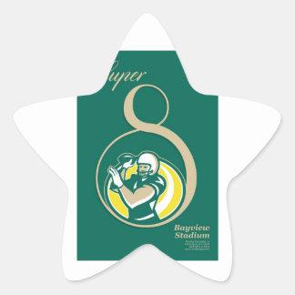 Arte del poster del fútbol americano QB Pegatinas Forma De Estrella