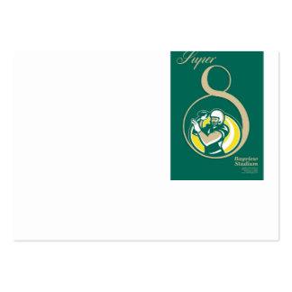 Arte del poster del fútbol americano QB Plantillas De Tarjetas Personales