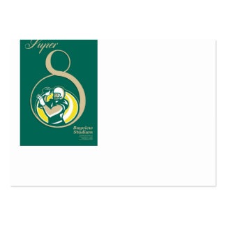Arte del poster del fútbol americano QB Tarjetas De Visita