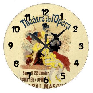 Arte del poster del Masque de pasillo de danza del Reloj Redondo Grande