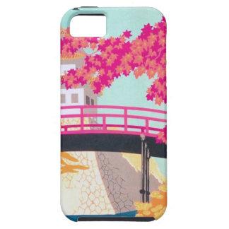 Arte del poster del viaje de Japón del vintage iPhone 5 Case-Mate Protector