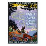 Arte del poster del viaje del francés del vintage tarjetas postales