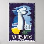 Arte del poster del vintage: Aguas curativas de Ai