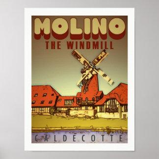 Arte del poster del vintage de Molino