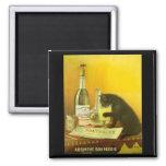 Arte del poster del vintage del burgués y del gato iman para frigorífico