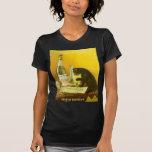 Arte del poster del vintage del burgués y del gato camiseta