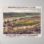 Arte del poster del vintage del club de la bicicle