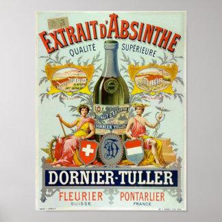 Arte del poster del vintage del d Absinthe de Extr