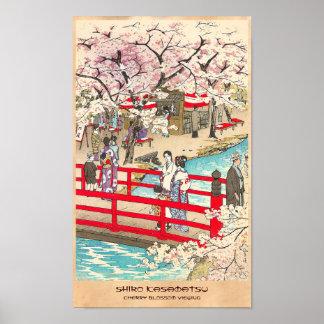 Arte del puente de kasamatsu del shiro de la visió