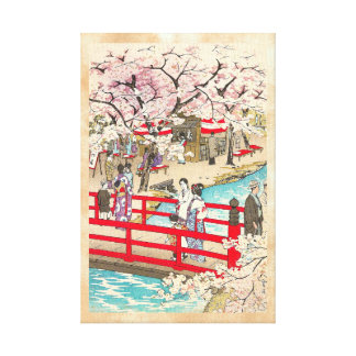 Arte del puente de kasamatsu del shiro de la visió impresiones en lona