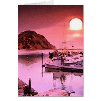 Arte del puerto que cautiva tarjeta de felicitación