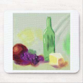 Arte del queso de la botella de la fruta mousepad