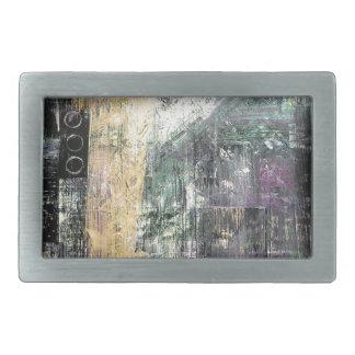 Arte del rasguño hebilla cinturon rectangular