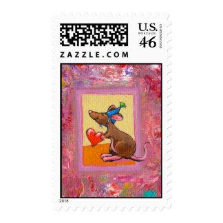 Arte del ratón - distribución abundante del amor d sellos