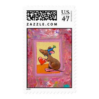 Arte del ratón - distribución abundante del amor sello