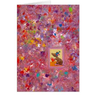 Arte del ratón - distribución abundante del amor tarjeta de felicitación