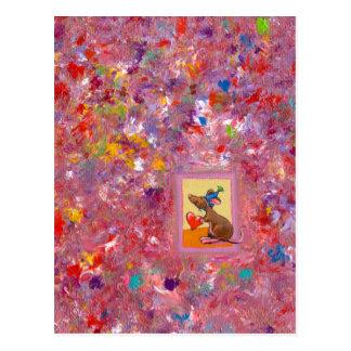 Arte del ratón - distribución abundante del amor tarjeta postal