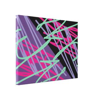 arte del relevo del chapoteo de los colores del impresión en lona estirada