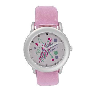 arte del relevo del chapoteo del vintage de los relojes de pulsera