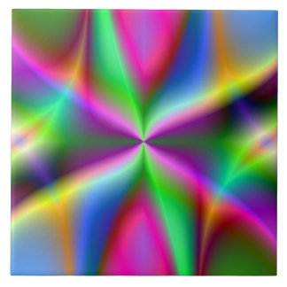 Arte del reloj de arena del fractal azulejo cuadrado grande