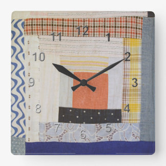 Arte del remiendo reloj cuadrado