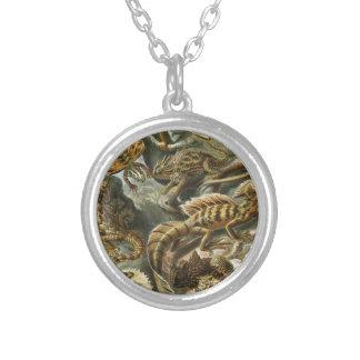 Arte del reptil del vintage collar personalizado