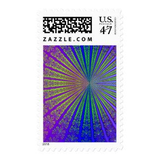 Arte del resplandor solar del fractal sellos