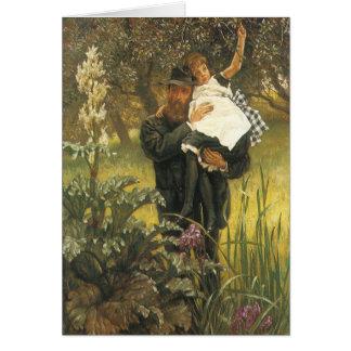 Arte del retrato del Victorian del vintage, viudo Tarjeta De Felicitación